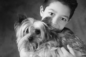 Boy and Dog - Give your dog or cat the royal treatment at our pet grooming shop in Phelan, California, where youýýýýýýll find the best services, pet supplies, and pet food around.
